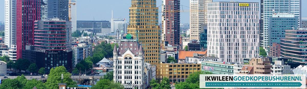 Goedkoop een bus of touringcar huren in Rotterdam
