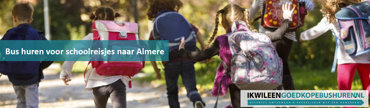 Op schoolreisje in of naar Almere met de bus is het hoogtepunt van het jaar voor alle kinderen