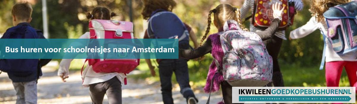 Bus huren schoolreis Amsterdam